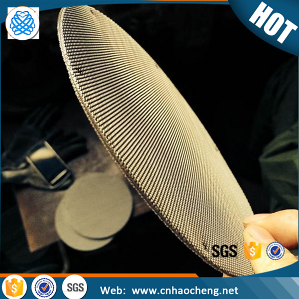 Stainless steel bronze wire mesh sintered filter disc and packs