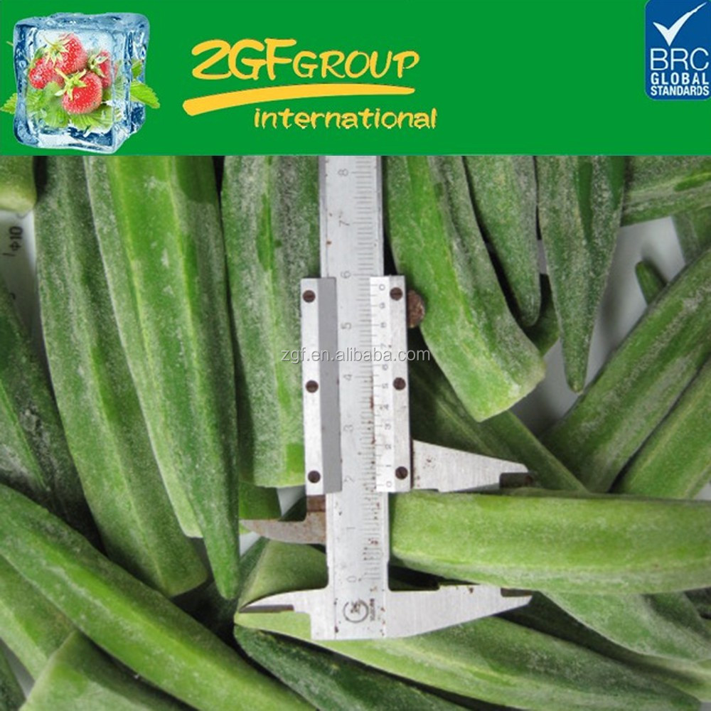 Grade A frozen vegetables IQF whole okra without ends