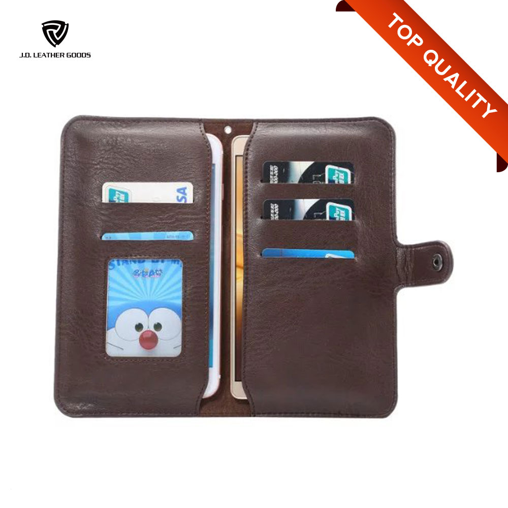 Universal Smart Phone Wallet Style PU Leather Case/Two Mobile Phones Leather Case