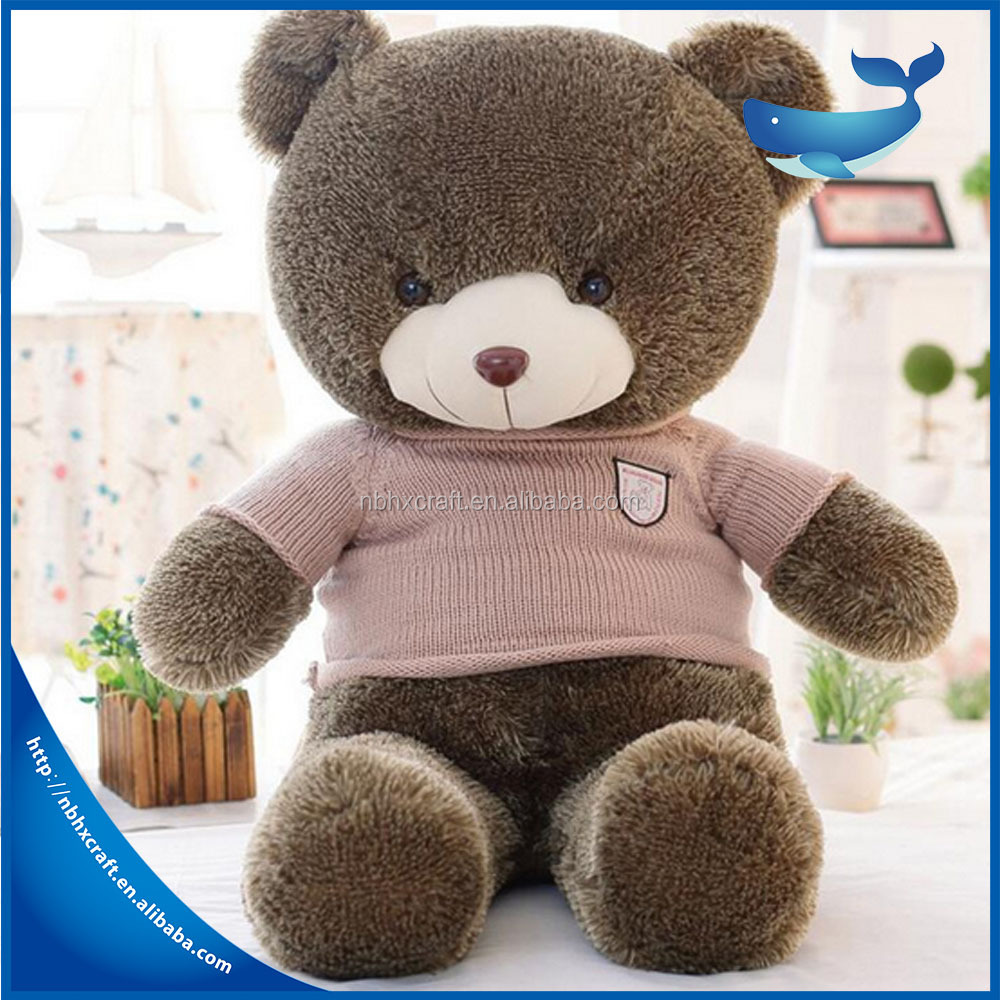 2017 hot sale cute big size teddy bear doll/big plush bear/ stuffed soft toy the best birthday gift