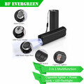 Cool Rechargeable Cigarette Smoking Lighter Power Bank Flashlight Torch Light