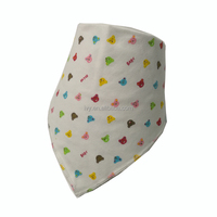 Promotion Baby Drool Bibs Bandana Teething Organic Cotton boys girls Adjustable Snap triangle Bib