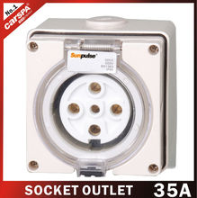 35A with5 hole european electrical outlet socket