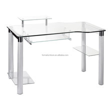 single person computer table study glass table