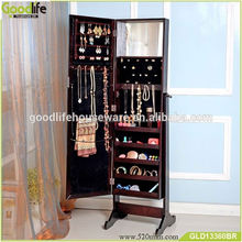 wholesale high quality Wooden mirror jewelry cabinet best sale in USA