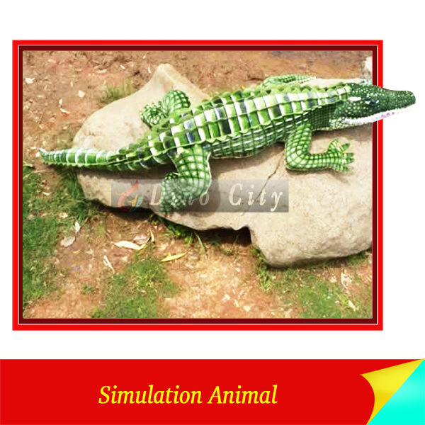 Amusement Park Animatronic Crocodile Walking Animal Model