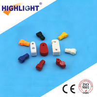 HOT !!! Highlight SL001 red 7mm Retail security EAS Stop Lock for Security Hook / magnetic peg hook lock