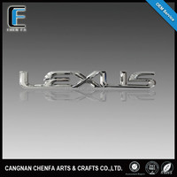 custom High quality 3D ABS plastic chrome plated self-adheisve car badge for Lexus