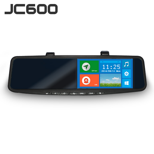 NEW JIMI 3G Rearview Mirror-JC600 Android 4.2/2 channels 720P Car DVR Google navigation real time GPS tracking system