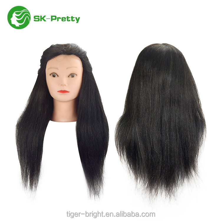 High quality 100% human hair mannequin head for barber training