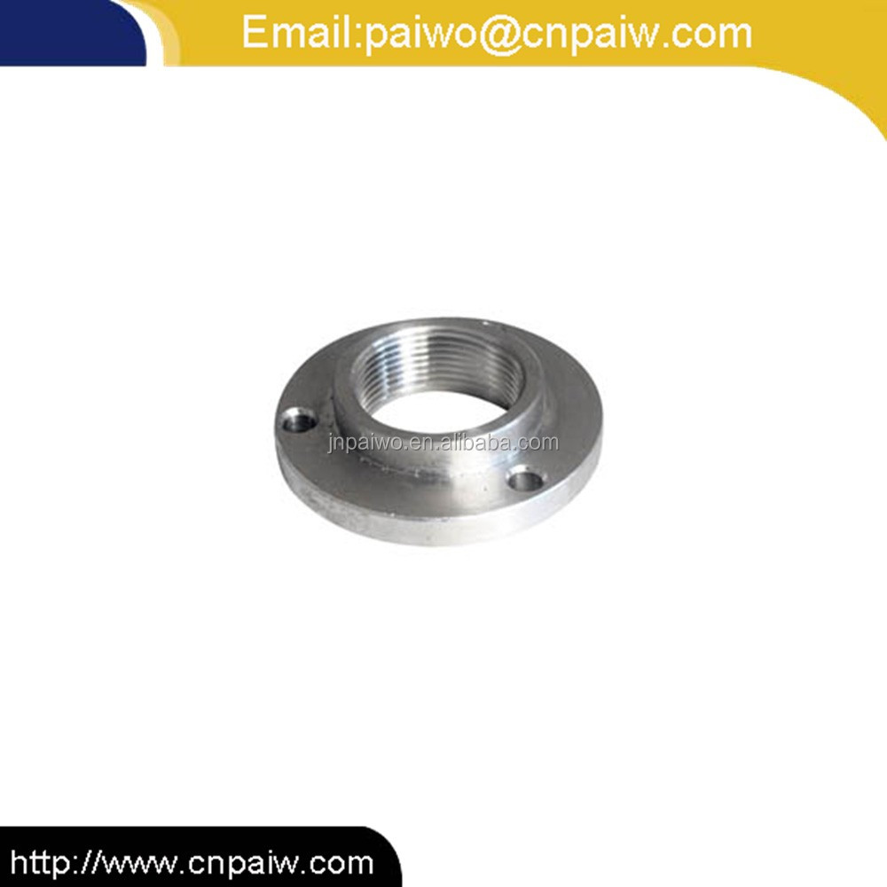 Precision CNC machining forged tapped flanges