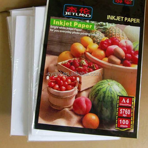 Photo Paper A4 115g Glossy inkjet paper 210x 297mm 100 sheets per pack