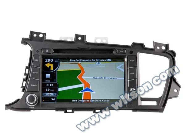 WITSON CAR DVD GPS RADIO PLAYER FOR KIA K5/OPTIMA 2011-2012 WITH A9 DUAL CORE CHIPSET 1.6GHZ FREQUENCY 1080P 1G DDR RAM 8GB FLA