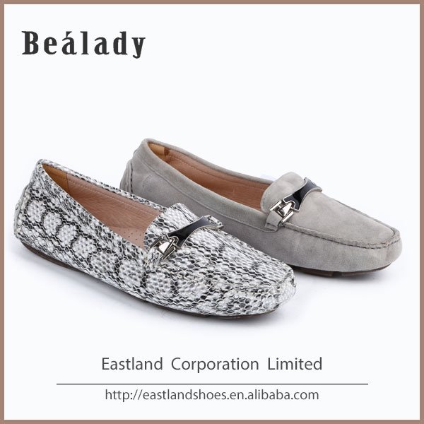 wholesale fashionable anti-skidding design moccasin loafers italian ladies shoes