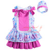 Summer Girl Princess Dress Bow Printed Girls Dresses With hat Sleeveless Children Clothing G-DMGD905-789