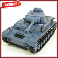 3859 DAK Pz.Kpfw.IV Ausf.F-1 Gearbox Tracks Modell 1/16 Military Airsoft Shooting Battle HengLong RC Tank with Smoke & Sound