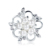 Latest pearl and rhinestone brooch pin women jewelry pearl brooch for christmas gift
