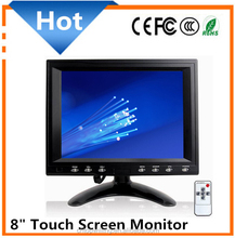 Hot Sale High Definition 8 Inch TFT LCD touch Monitor or PC VGA Monitor or Car Monitor for car camera cam + Remote control