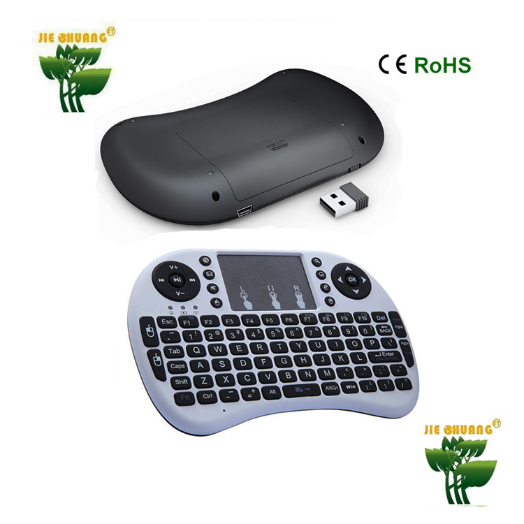 Rii 8+ 92 Keys 2.4G Mini Wireless Keyboard with LED rii8 black Multi-touch Touchpad Handheld for Andriod TV Box HTPC