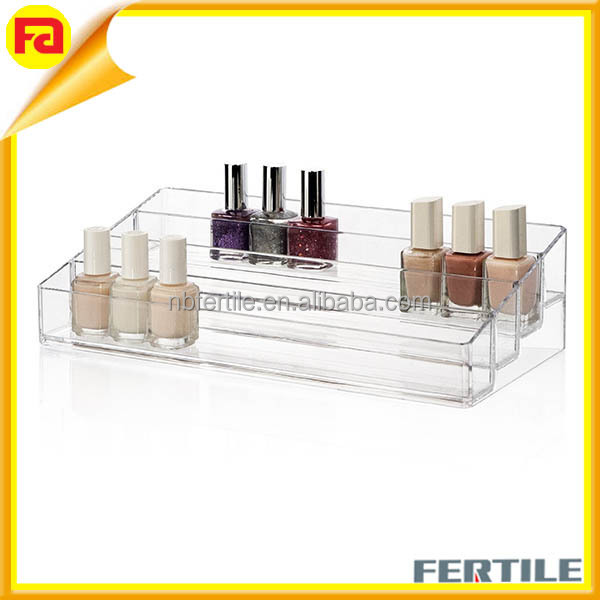 Multi-Level Nail Polish Organizer,Acrylic 4 Step Counter Display Holds up 40-48 Bottles
