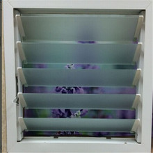 PVC ventilator window for louver windows with exhaust fan design