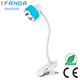 Modern Cordless Gooseneck LED Desk Lamp with Stand Clip, Smart Touch Control Switch, 3-Level Dimmable