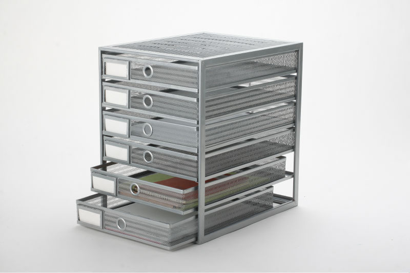 high quality metal mesh office table drawer