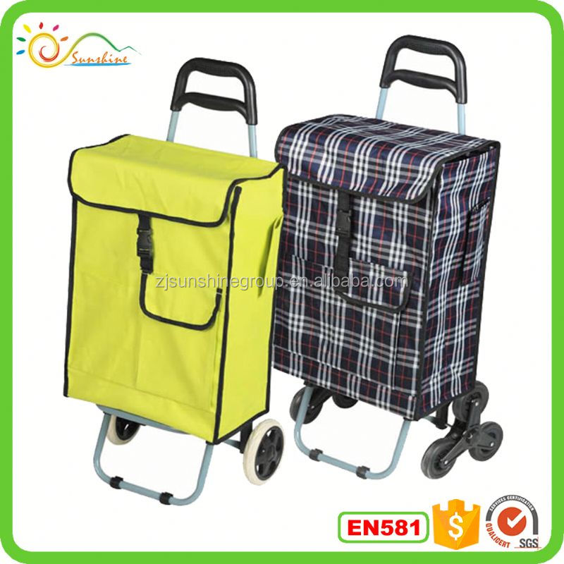 Portable luggage trolley aluminum climbing water bottles with metal lid