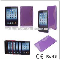 Newest High Quality S pattern TPU Case for ipad mini case cover