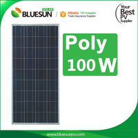 A grade class colar cell high efficiency High quality solar panel quotes poly 100w