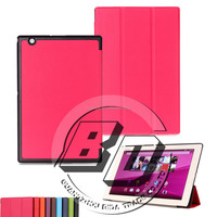 Manufacturer Wholesale Professional Three Folding Stand PU Leather Tablet Case For Sony Xperia Z4 Tablet lowest price