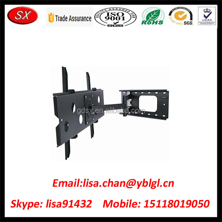 Custom Adjustable Tilting Swiveling Wall Mount Bracket for LCD TV