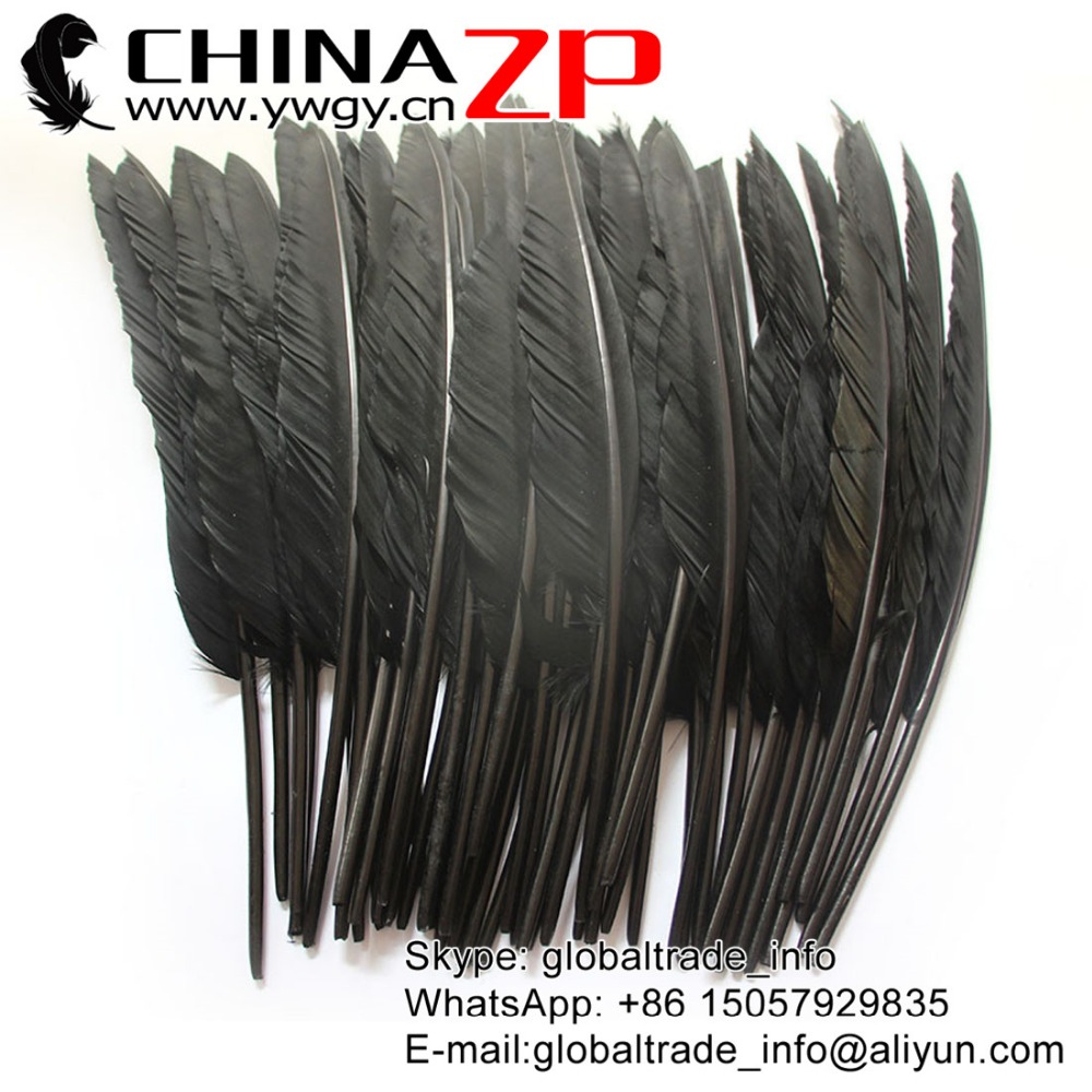Leading Supplier CHINAZP Factory Bulk Sale Wonderful Quality Dyed Black Duck Pointer Feathers