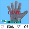 metal stainless steel long-sleeve cut resistant gloves/metal protective gloves