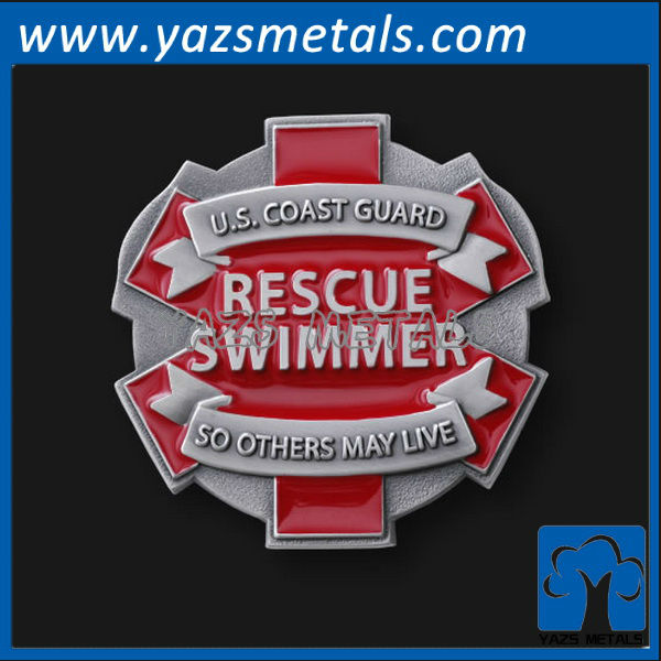 customize metal badges, custom high quality odd shape with cut edges badges