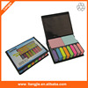 PU leather cover sticky notes box,memo box with sticky notes,memo pad holder