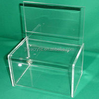 custom made acrylic storage containers. plastic cube box