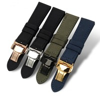 wholesale 18-24mm fabric fiber watch belt band canvas strap