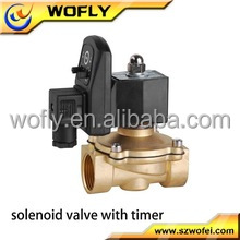 Solenoid valve timer for gas, water, oil