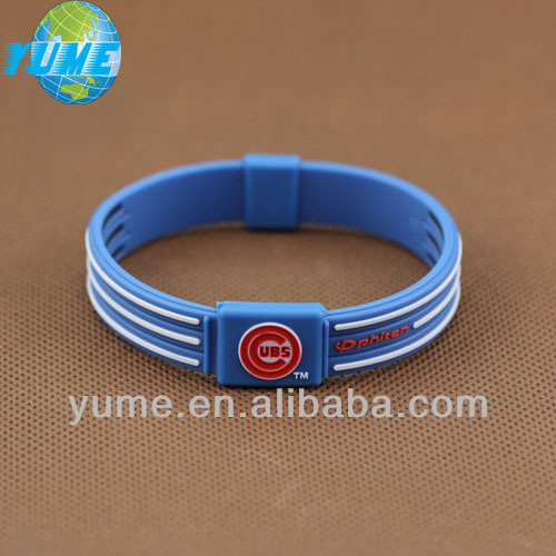 Best-selling Chicago cubs fashion silicone health sports major league radiation protection can be custom-made LOGO