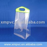 Handle PVC gift packaging bag with clear body