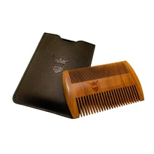 Wooden Beard Comb, Dual Action Fine & Coarse Teeth, Perfect for use with Balms and Oils, Top Pocket Comb for Beard-569003