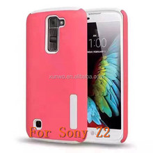 Good quality shockproof combo armor case multicolor choice mobile phone cover for sony z2