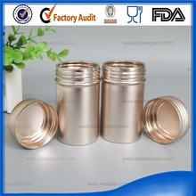 Golden aluminum tin boxes for medicine pill packaging