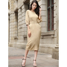 2018 new designer long pencil one-piece official dresses for women