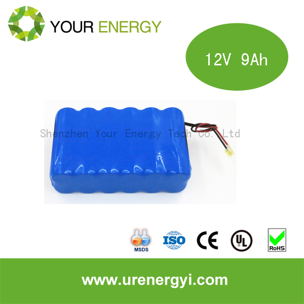 Hot sale lifepo4 battery pack 12V 9Ah rechargeable battery, battery backup for security camera