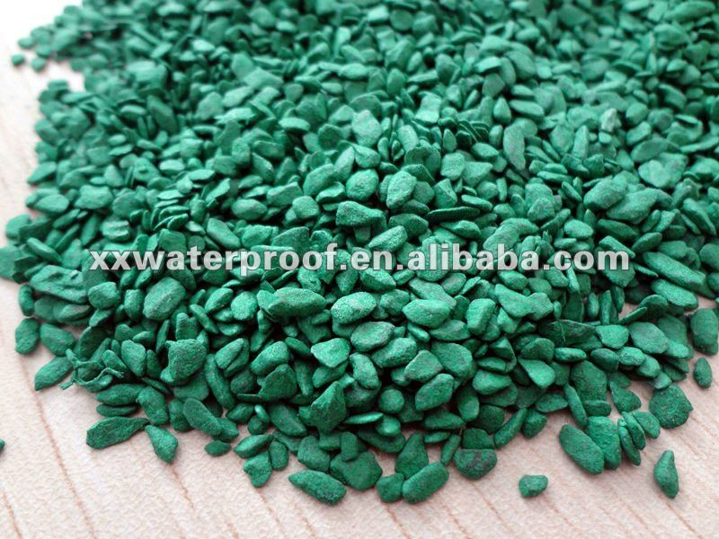 Green Colored sand/slate flakes for waterproof membrane