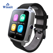 u11c smart watch phone with leather strap bluetooth watch