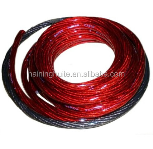 2500W 4 AWG Amplifier Power Cable&Wiring