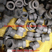 Carbon steel special white zinc plated share nut